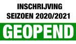 Inschrijving seizoen 2020/2021 geopend